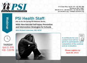 PSI Health Services Self-injury Webinar